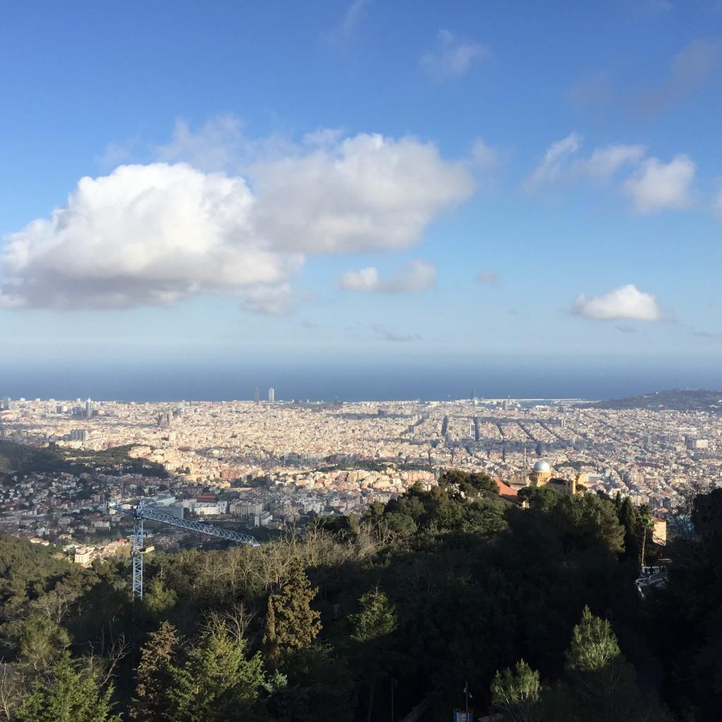 Blick vom Tibidabo Barcelona 2015 Johanna Voll