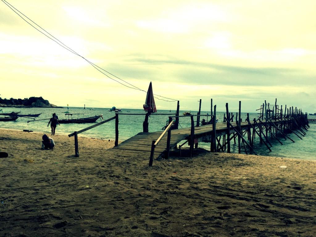 Pier auf Koh Tao