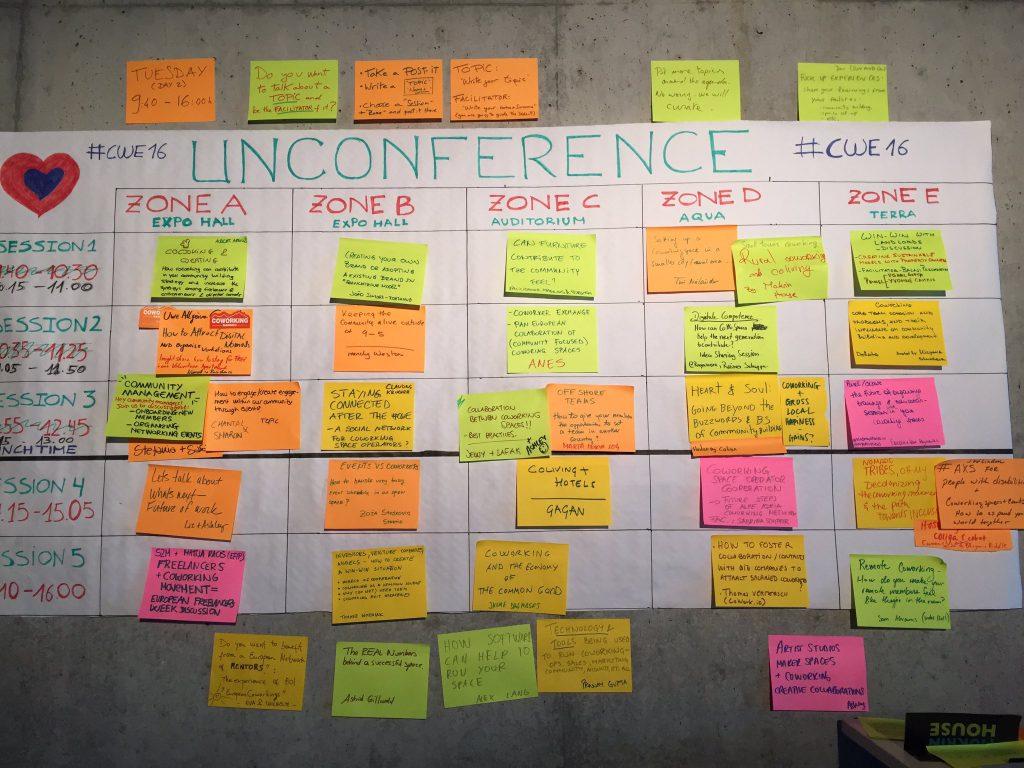 coworking europe barcamp plan
